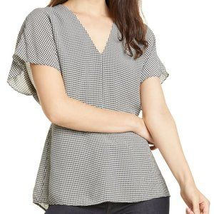 NWT $229 LEWIT Gingham Top XS PA23
